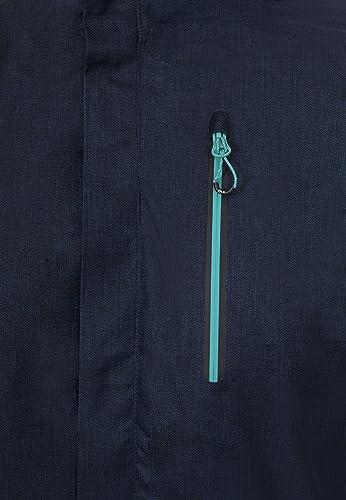 Navy Marl Trespass Womens TIYA Waterproof Jacket with Removable Hood XXL