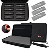 Black Hard EVA Case with Fully-Customizable & Shock-Absorbing D.I.Y Foam Interior - Compatible with Harmonicas - by DURAGADGET