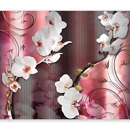 Artgeist Photo Wallpaper Pink Orchid 116x83 Xxl Peel And Stick Self Adhesive Foil Wall Mural Removable Sticker Premium Print Picture Image Design