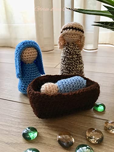 Amazon Nativity Crochet Nativity Set Baby Jesus Mary Joseph