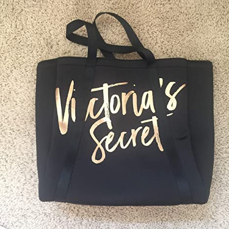 d89828c309 Image Unavailable. Image not available for. Color  Victoria s Secret Black  Caryall Cooler Tote Bag