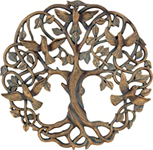 "Old River Outdoors Tree of Life/Birds of Peace Wall Plaque 11 5/8"" Decorative Celtic Dove Garden Art Sculpture"