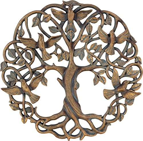 Old River Outdoors Tree of Life Birds of Peace Wall Plaque 11 5 8 Decorative Celtic Dove Garden Art Sculpture