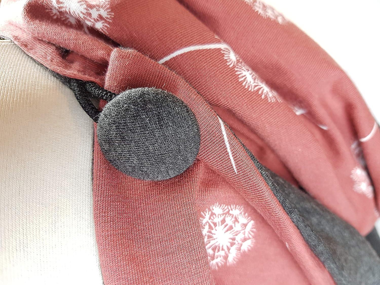 Loop Schal Pusteblume rot