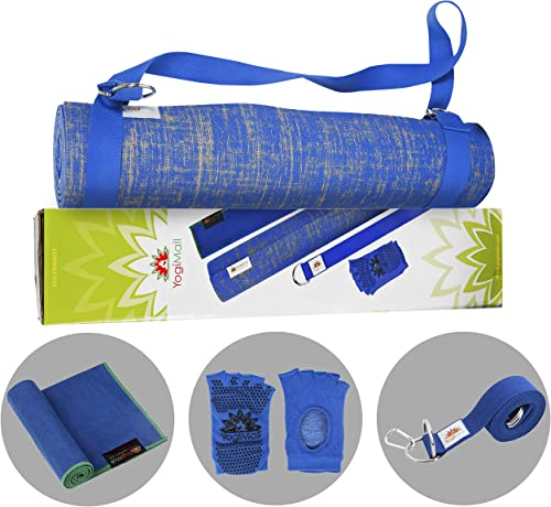 YogiMall Natural Jute Yoga Mat Kit