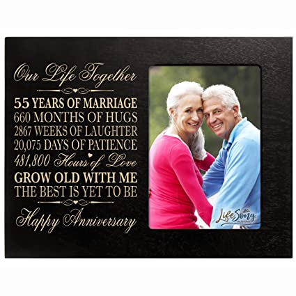 Amazon 55th Year Wedding Anniversary Gift For Her Him Couple
