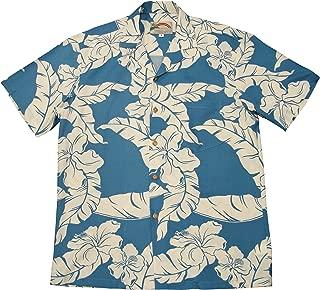product image for Paradise Found Mens Hibiscus Pareau Shirt Blue 6X