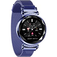 Fashionable intelligent Female Wristwatch HD Dynamic colour screen Magnetic mesh belt Bright crystal Flower shape glass Menstrual cycle reminder