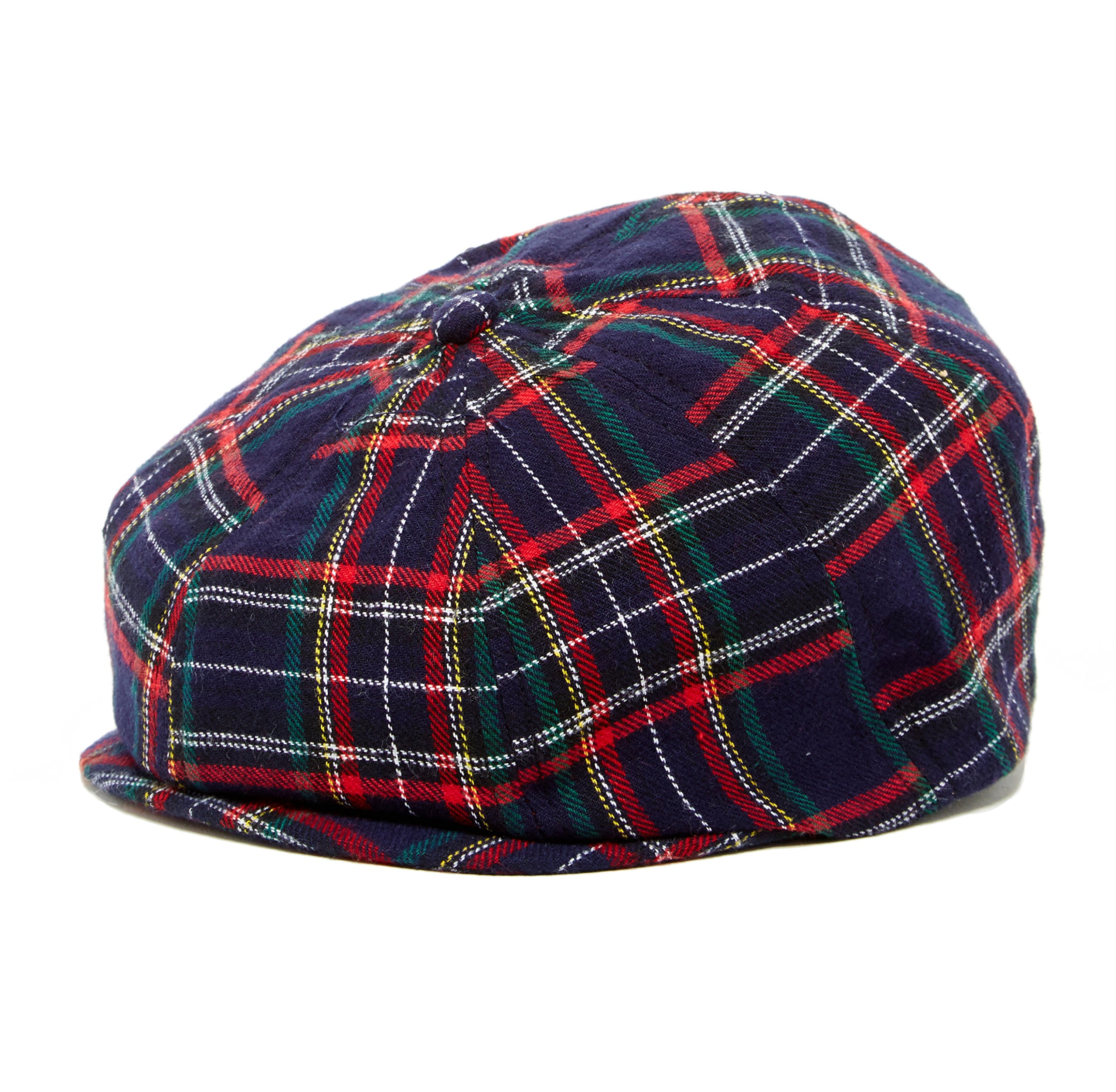 Christmas Plaid baby toddler & kids caps (XXS 46 cm 6-12m, navy and green) by Born to Love (Image #1)