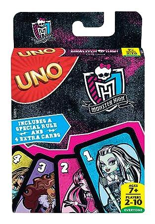 Monster High Uno Juego De Mesa Mattel Cjm75 Amazon Es