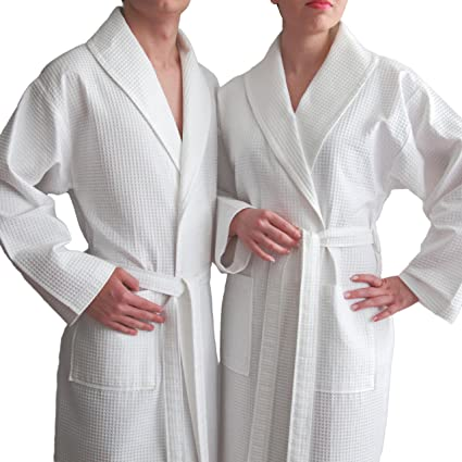 Image Unavailable. Image not available for. Color  Linum Home Textiles  Unisex Waffle Weave Bathrobe ... c8e085acf
