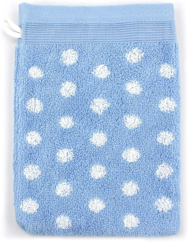 Linnea Serviette de Toilette 40x60 cm Domino Bleu 550 g//m2