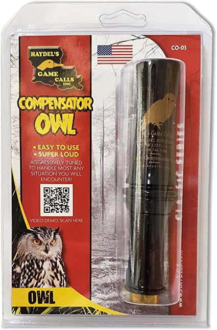 Haydel CO-03 Compensator Owl Turkey Hooter Hunting Game Call