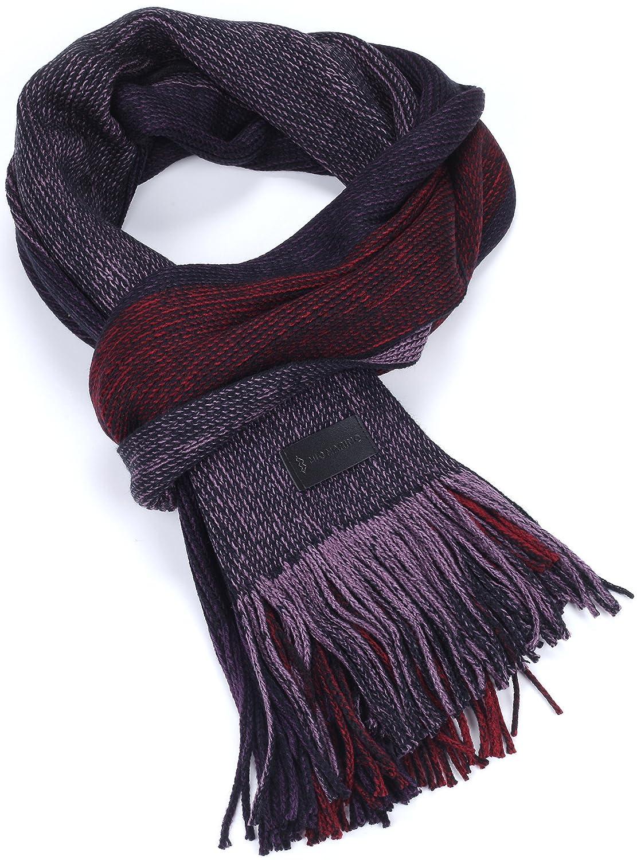 Knit Striped Scarf Winter Fashion Scarf In An Elegant Gift Box Mens Scarf