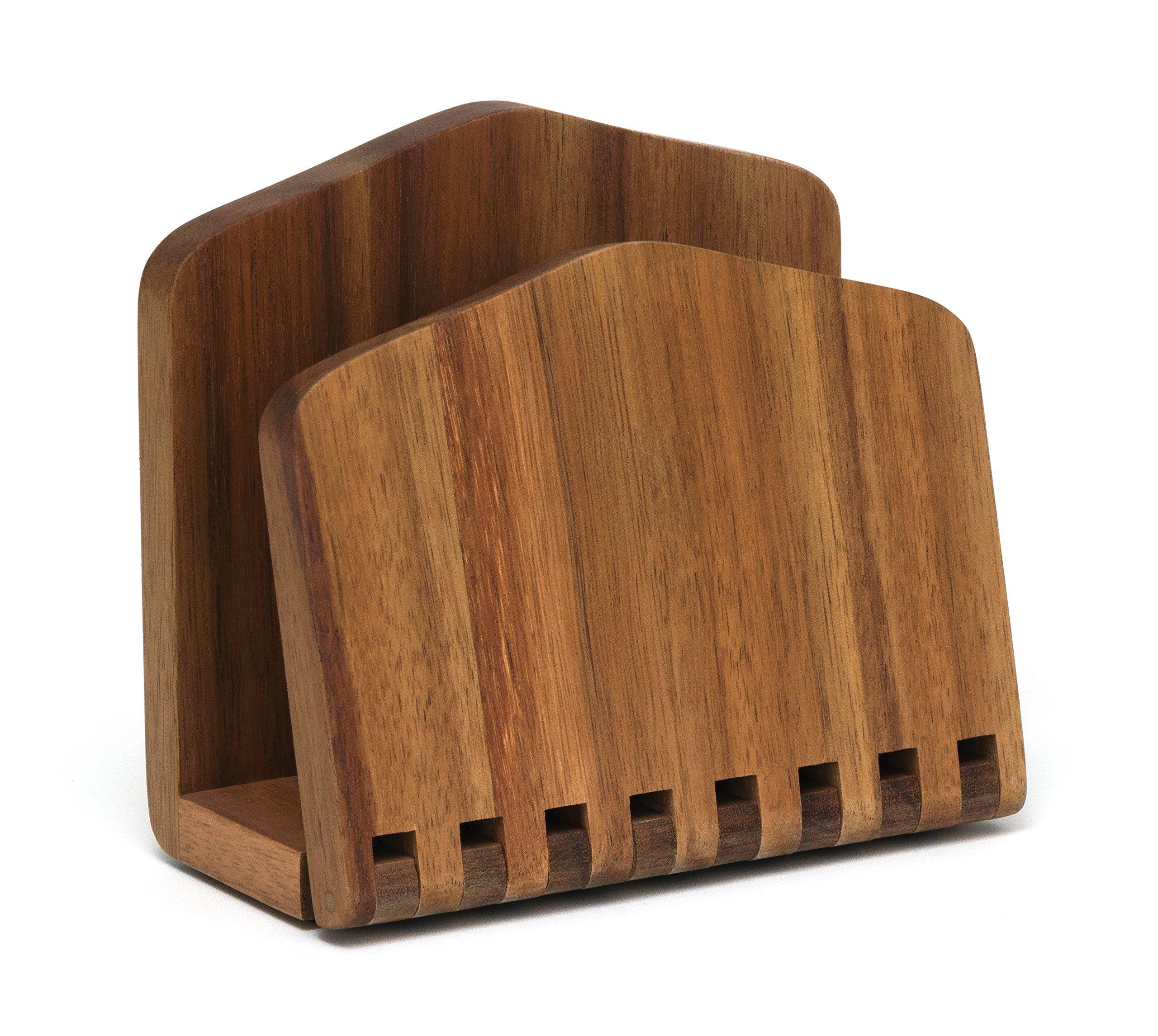 Lipper International 1160 Acacia Wood Adjustable Napkin Holder, 6-1/2'' x 3-1/4'' x 6'' by Lipper International (Image #1)