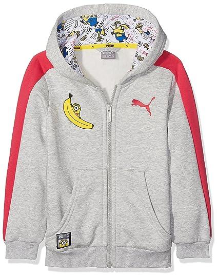 Puma Sudadera Minions, Chaqueta con Capucha para niño, Infantil, Minions Hooded Jacket,