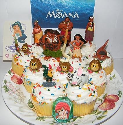 Amazoncom Disney Moana Movie Deluxe Mini Cake Toppers Cupcake