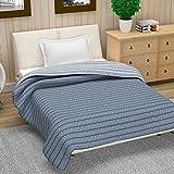 Divine Casa Natty Geometric Polyester Single Blanket -Blue