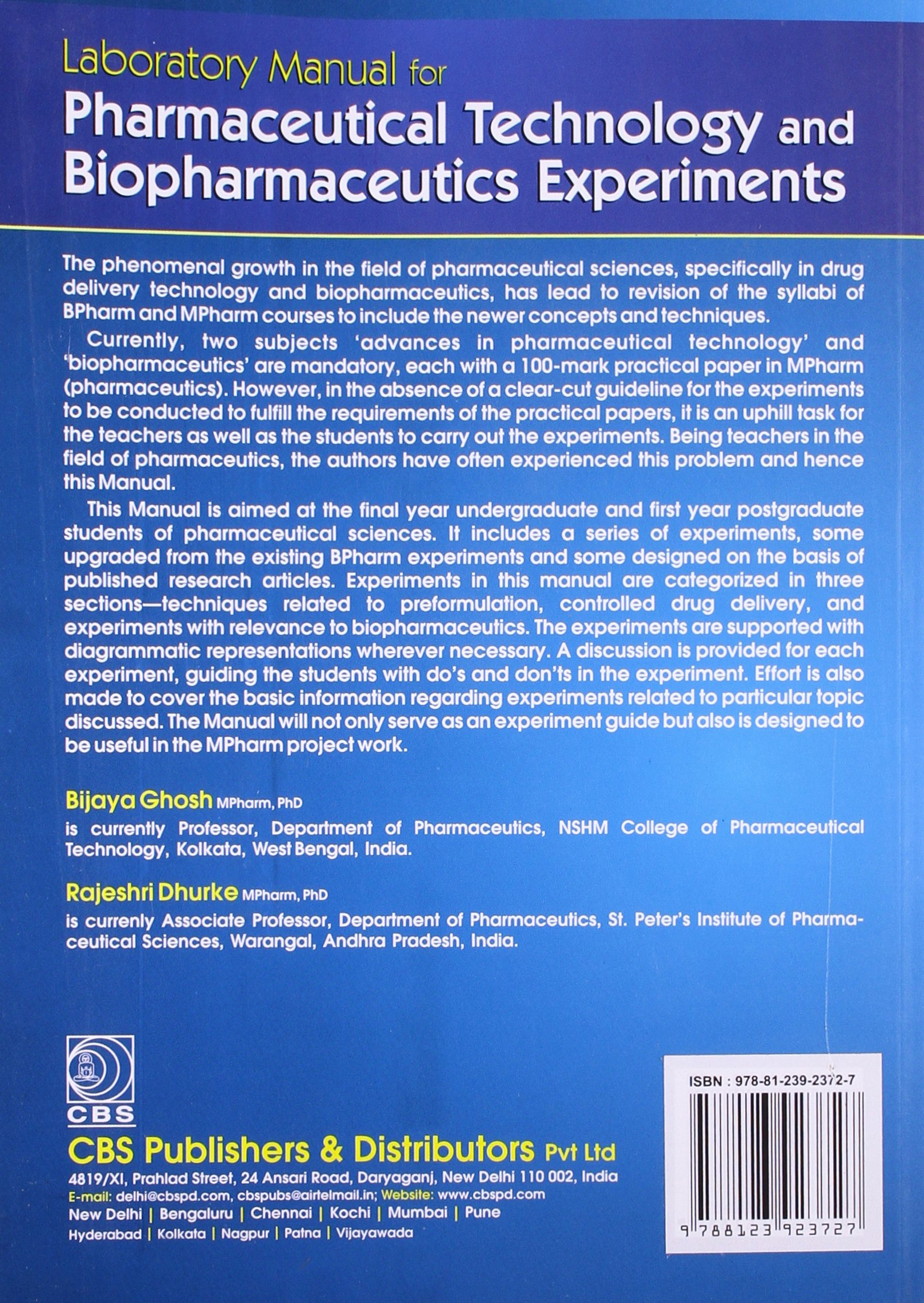 laboratory manual for pharmaceutical technology and biopharmaceutics rh amazon com Research Lab Pharmaceutical Manufacturing