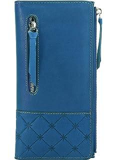 bb2a0d9c4ce9 Tippnox Womens Genuine Leather Wallet RFID Blocking Credit Card ...