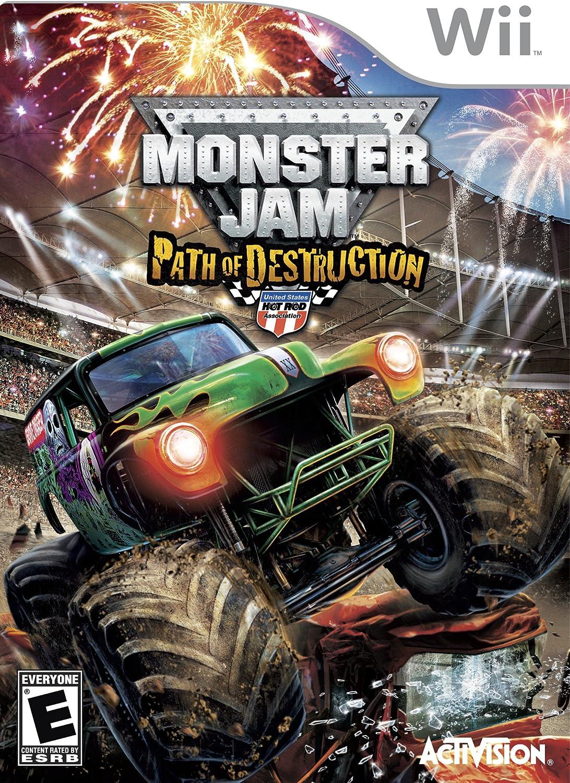 amazon com monster jam path of destruction nintendo wii video