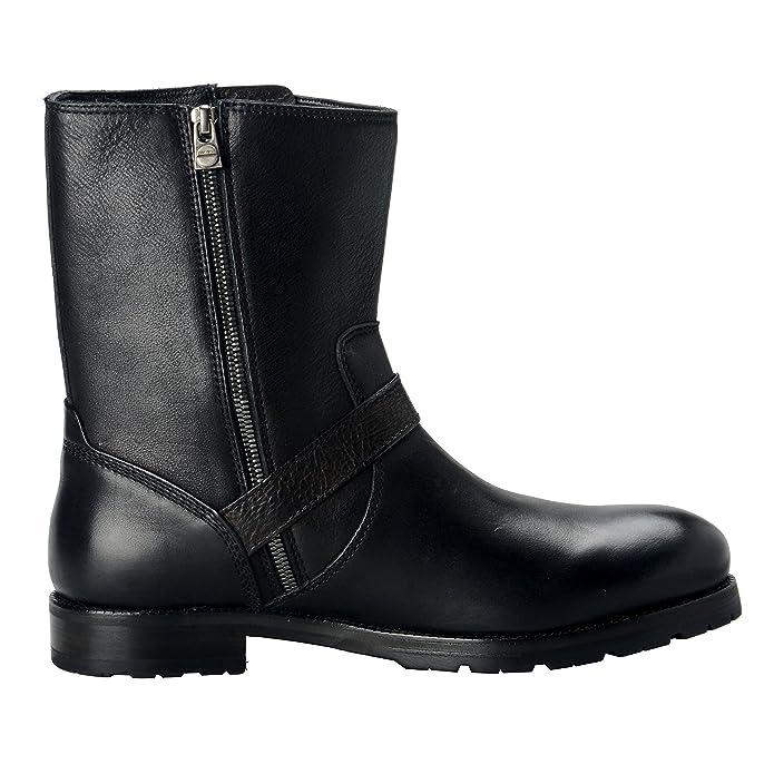 Jimmy Choo Stanford Men's Leather Black Biker Boots Shoes: Amazon.ca: Shoes  & Handbags