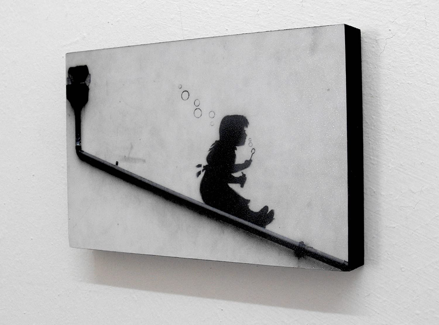 Banksy Bubble Girl Drainpipe Graffiti 6