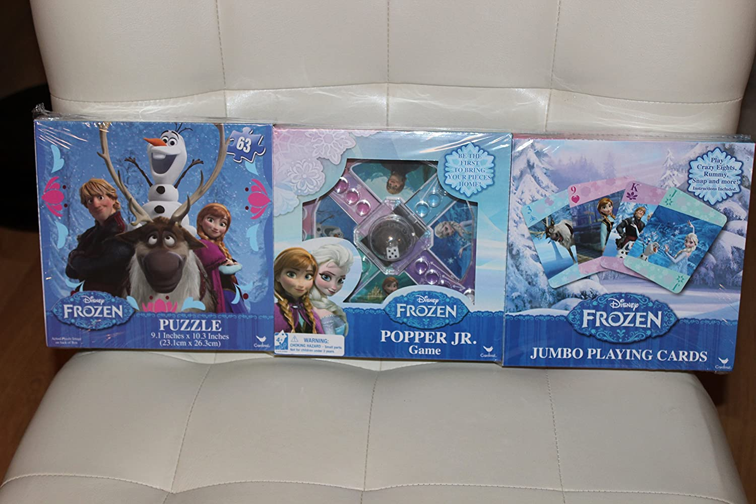 Super Disney Frozen 3 Pack 63 Pc Puzzle Popper Jr Game And Jumbo Playing Cards Ncnpc Chair Design For Home Ncnpcorg