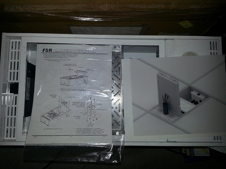 FSR CB-12P 1FTX2FT プロジェクタークラスルーム 凹型天井エンクロージャー。 B00O9D6WQU