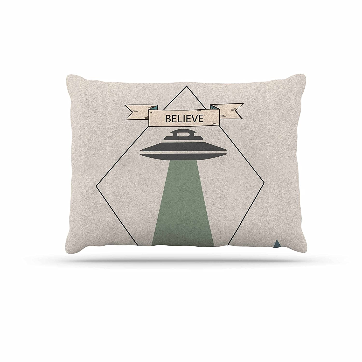 KESS InHouse Alias Believe Geometric Beige Dog Bed, 30  x 40