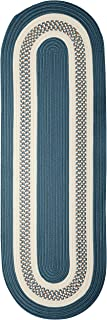 product image for Crescent Oval Area Rug, 2 by 8-Feet, Lake Blue