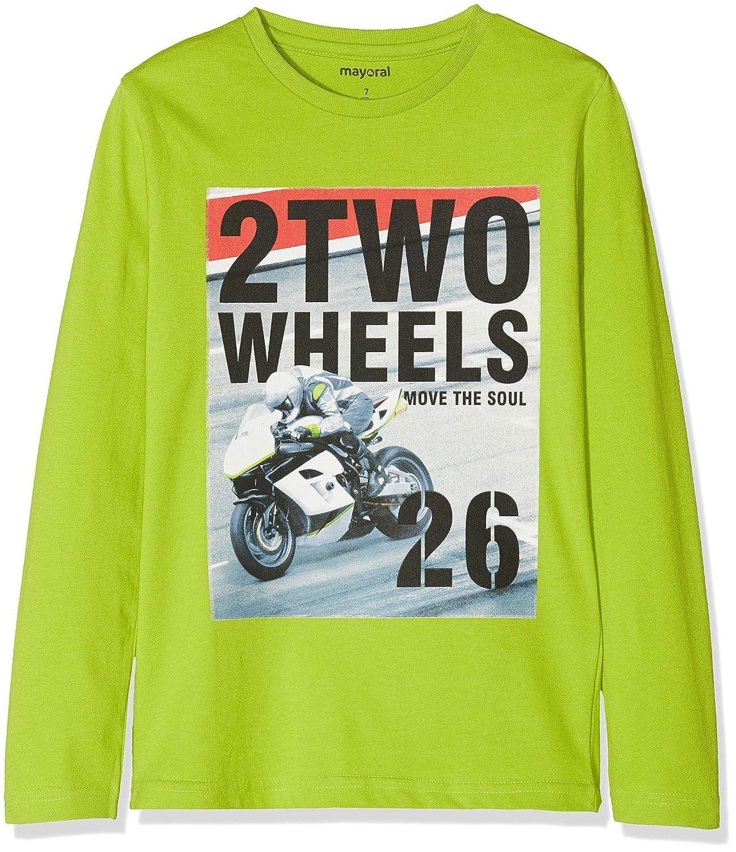 Mayoral 4028 Camiseta de Manga Larga, Verde (Kale 83), 2 años ...