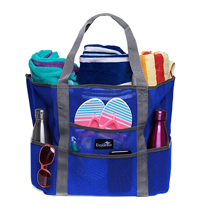 The Dejaroo Mesh Beach Bag travel product recommended by Becky Beach on Lifney.