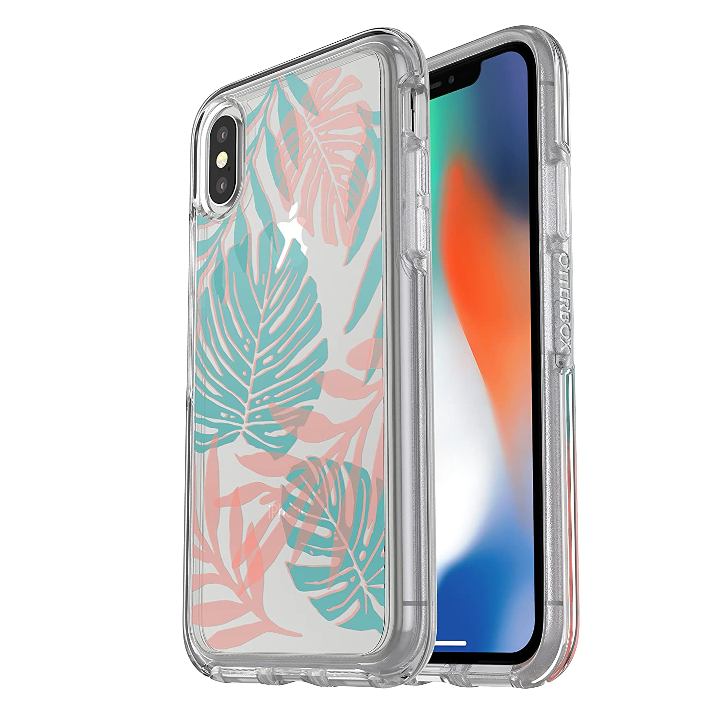 f8caf956e5 Amazon.com: OtterBox SYMMETRY CLEAR SERIES Case for iPhone Xs & iPhone X -  Retail Packaging - EASY BREEZY (CLEAR/EASY BREEZY): Cell Phones &  Accessories