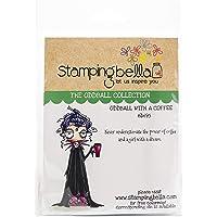 Stamping Bella EB695 stempel Oddball met koffie, blauw