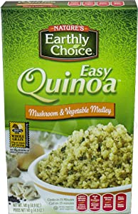 Nature's Earthly Choice All Natural Organic Easy Quinoa, Mushroom and Vegetable Medley, 4.8 Ounce