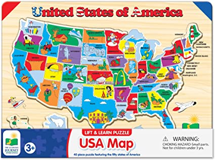 Us Map Puzzle For Kids Amazon.com: The Learning Journey Lift & Learn Puzzle   USA Map