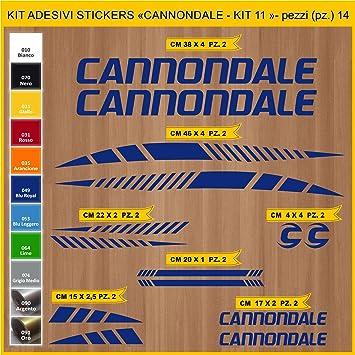 Kit Pegatinas Stickers Bicicleta CANNONDALE- KIT 11-14 piezas ...