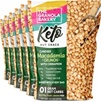 TGB Keto Candied Macadamia   1g Net Carb   Low Carb Nut Snack   Healthy Artisanal Food, 9.5 Ounces (Pack of 6)