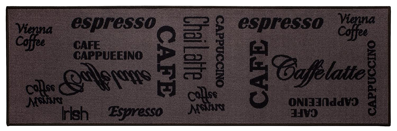 misento Andiamo tappeto da cucina Espresso lavabile tappeto cucina Oeko Tex Approvato, marrone, 57 x 120 cm 282475