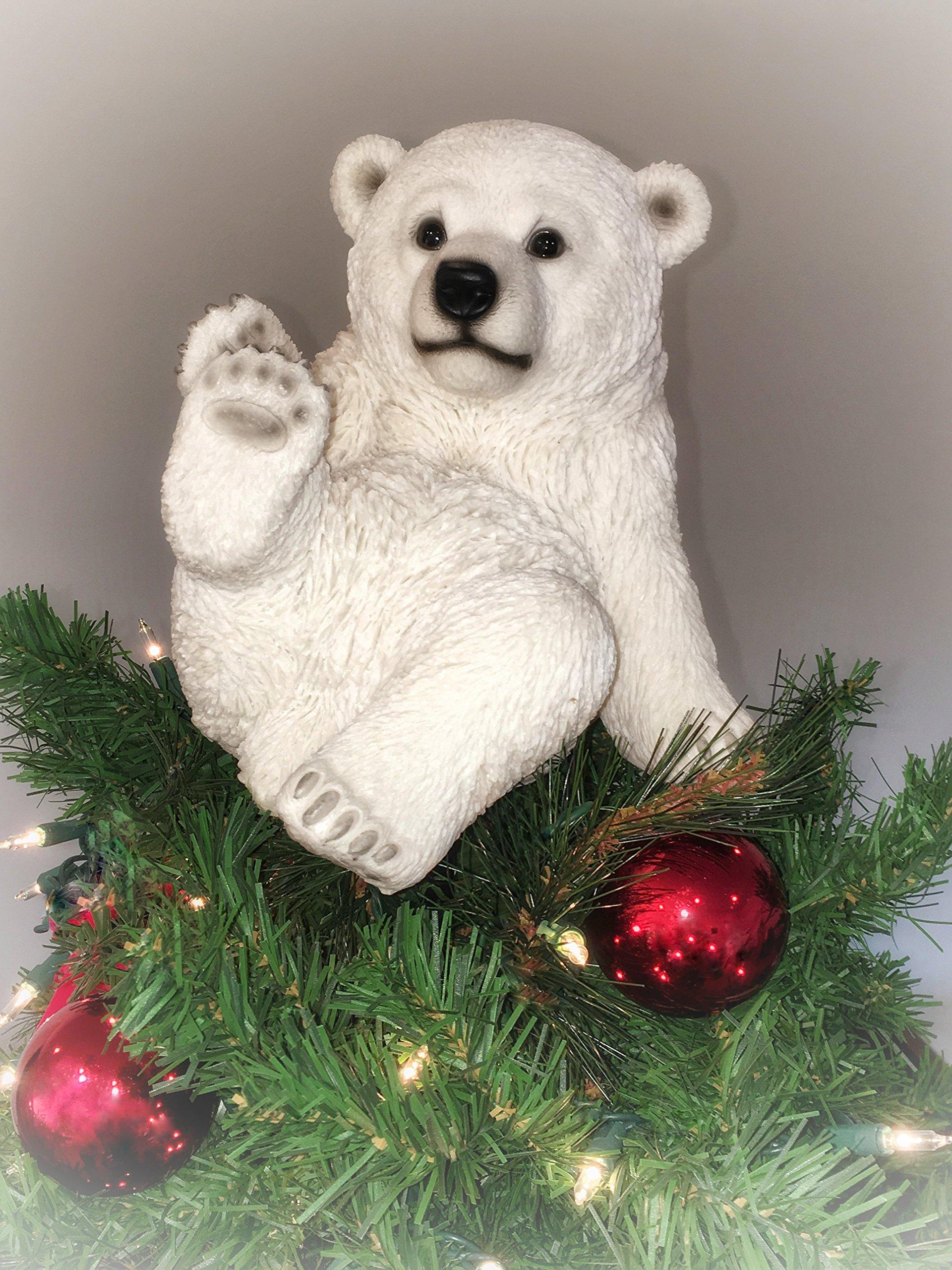 Summit Arbor Playing Polar Bear Sitting Christmas Tree Topper