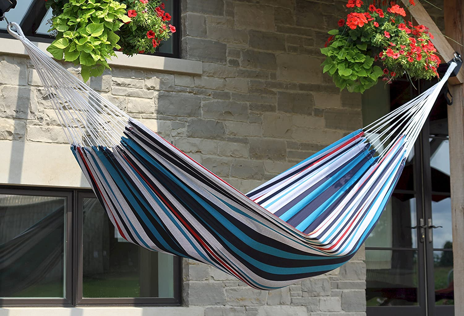 vivere double brazilian style denim hammock  amazon ca  patio lawn  u0026 garden vivere double brazilian style denim hammock  amazon ca  patio      rh   amazon ca