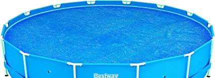 Bestway 58172 - Cobertor solar Manta Térmica para piscinas Steel Pro redondas de 457 cm de