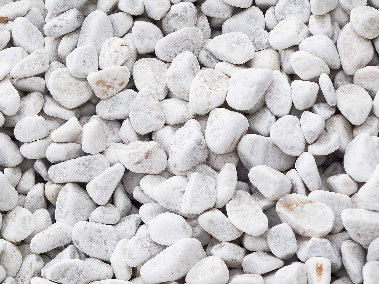 all/ée et d/écoration /à lint/érieur et /à lext/érieur calcaire 6-10 mm 750 Kg de gravier Blanc concass/é pour Jardin