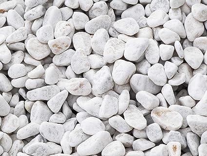 all/ée et d/écoration /à lint/érieur et /à lext/érieur marbre 60-100 mm 5 Kg de gravier Blanc roul/é rond pour Jardin