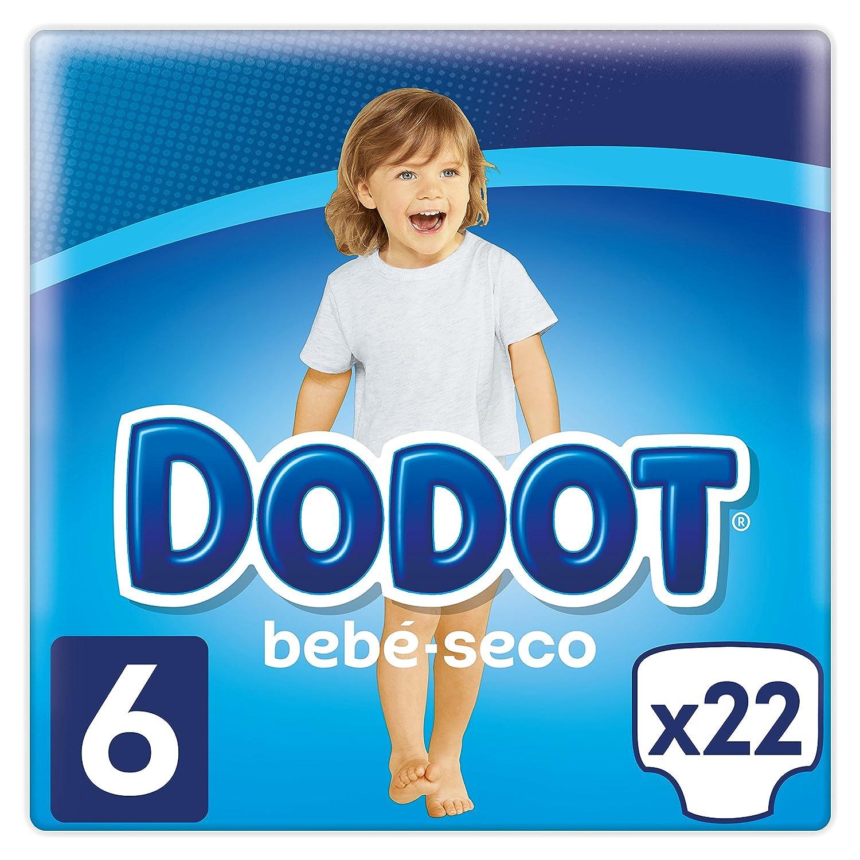Dodot Pañales con Canales de Aire Bebé-Seco, Talla 6, para Bebes de 13+ kg - 22 Pañales: Amazon.es: Salud y cuidado personal