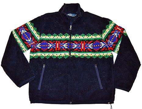 Ralph Indian Zip Sweater Lauren Mens Jacket Fleece Southwestern Polo BsQrxChtd