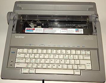 Brother GX-6500 - Máquina de escribir electrónica, con memoria de corrección de línea completa: Amazon.es: Electrónica