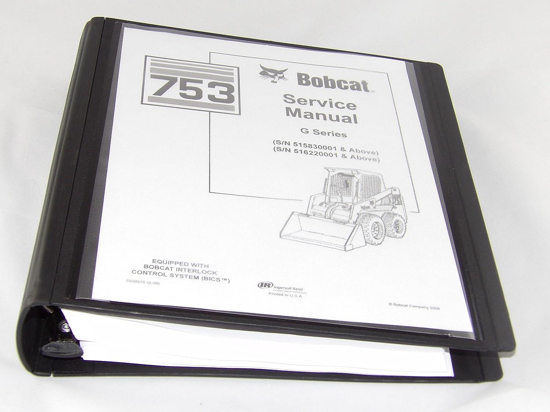 Servicio Kit de reparación manual de taller con cartón para Bobcat 753 753 G Skid Steer: Amazon.es: Coche y moto