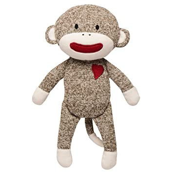 d72c25e78 Baby Starters Sock Monkey Plush with Rattle, Brown, 11
